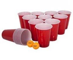 Beer-Pong červené kelímky 0,4l